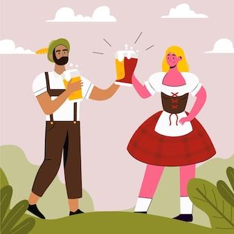 Oktoberfest viering plat ontwerp