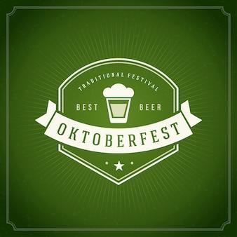 Oktoberfest vintage poster of wenskaart
