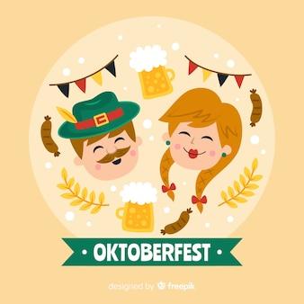 Oktoberfest vrouw en man lachen