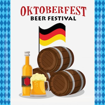Oktoberfestviering met biervaten