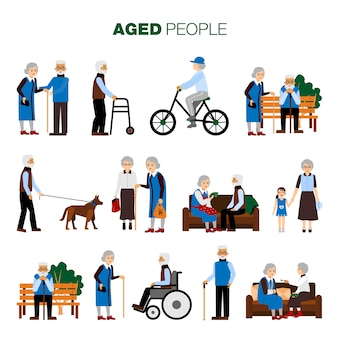 Old Age People Set