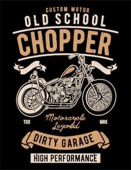 Old school chopper-illustratieontwerp