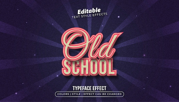 Old school text style effect