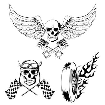 Oldschool tattoos set