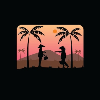 Oldtimer silhouet vintage logo