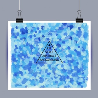 Olie abstracte achtergrond van blauwe