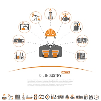 Olie-industrie concept