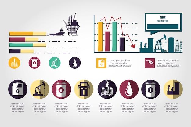 Olie-industrie infographic sjabloon