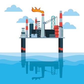 Olie-industrie ontwerp