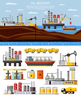 Olie-industrie samenstelling