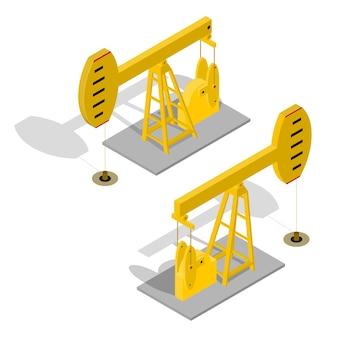 Olie pomp energie industriële geïsoleerd op wit