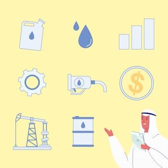 Olie raffinaderij industrie vectorillustraties instellen