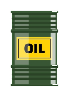 Olie stalen vat opslagcontainer op witte achtergrond
