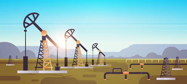Oliepomp installatie energie industriële zone olieboringen productie van fossiele brandstoffen