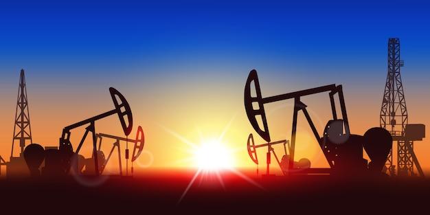 Oliepomp silhouet