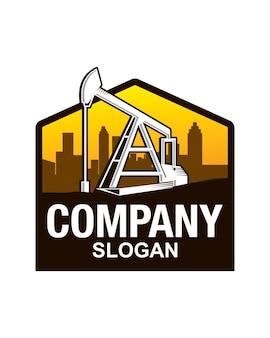 Olieveldverkenningen logo-sjabloon