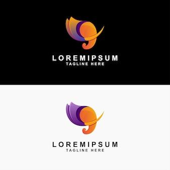 Olifant abstract gradiënt logo