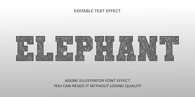 Olifant bewerkbaar teksteffect