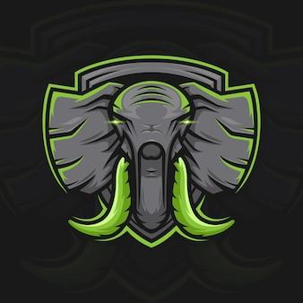 Olifant esport mascotte logo ontwerp