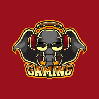 Olifant gaming mascot-logo
