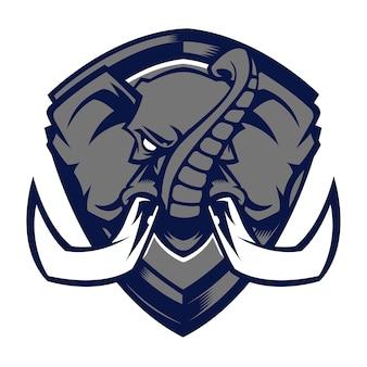 Olifant hoofd mascotte logo
