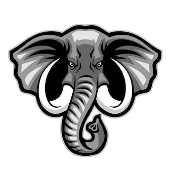 Olifant hoofd mascotte