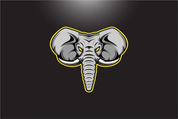 Olifant hoofd vectorillustratie
