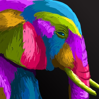 Olifant in pop-artstijl