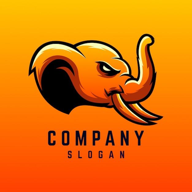 Olifant logo ontwerp