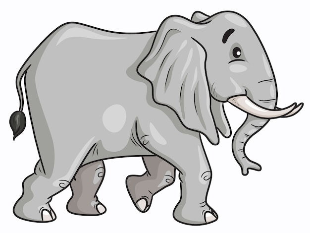 Olifant lopen cartoon