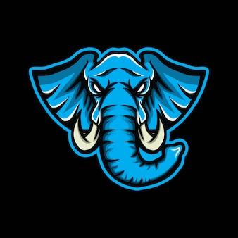 Olifant mascotte gaming-logo