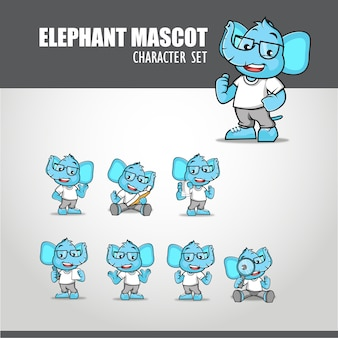 Olifant mascotte illustratie