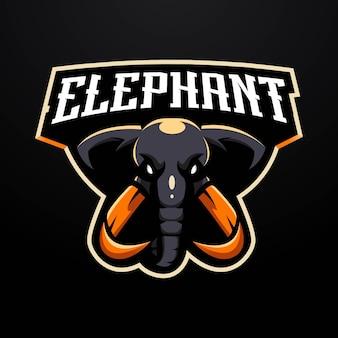 Olifant mascotte logo ontwerp