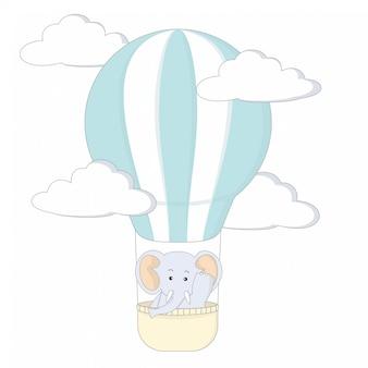 Olifant met luchtballon