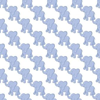 Olifant naadloze patroon achtergrond