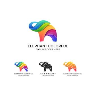 Olifant ontwerp logo