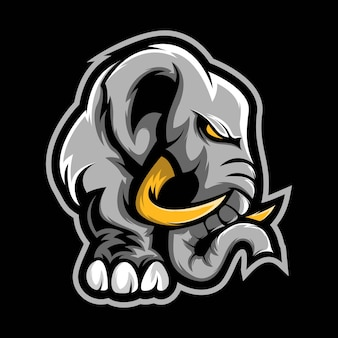 Olifant tribal mascotte ontwerp vector