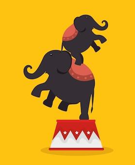 Olifanten acrobaten festival kermis