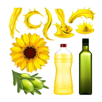 Olijf- en zonnebloemolie collectie set