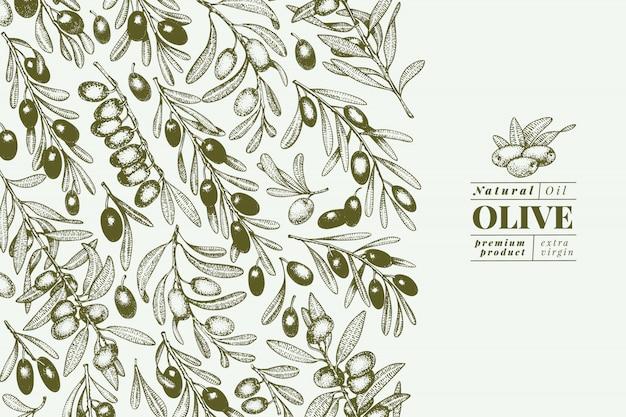 Olijfboom spandoek sjabloon