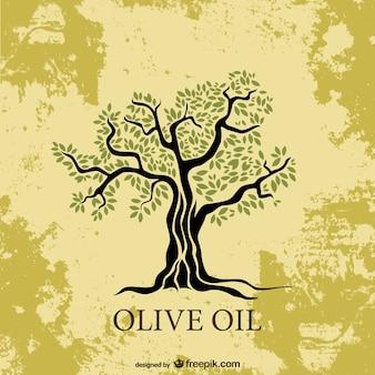 Olijfboom vectorillustratie