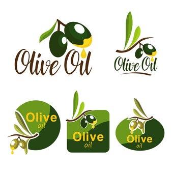 Olijfolie fruit geel drop badge embleem