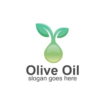 Olijfolie kleurovergang logo sjabloon