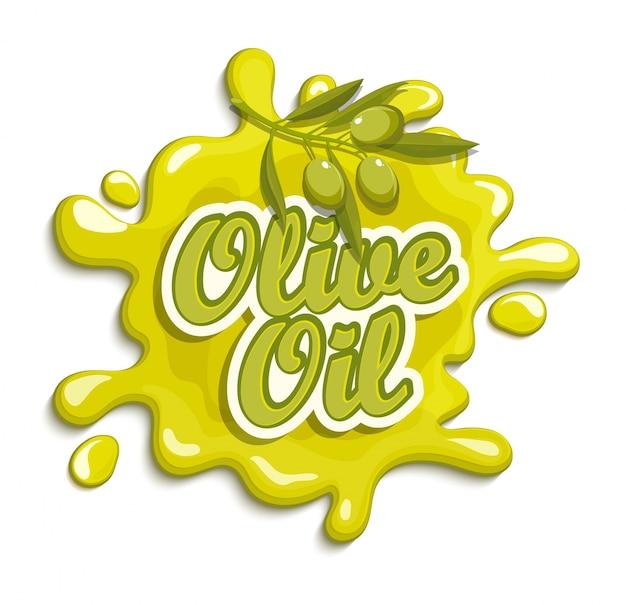 Olijfolie label.