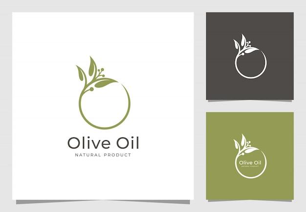 Olijfolie logo ontwerp
