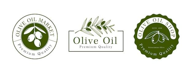 Olijfolie logo sjabloonontwerp