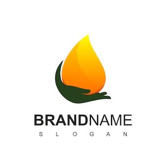 Olijfolie ontwerpsjabloon met druppel water icoon