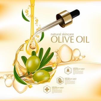 Olijfolie organische natuurlijke huidverzorging cosmetica