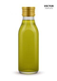 Olijfoliefles geïsoleerd