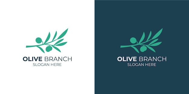 Olijftak eenvoudig logo set